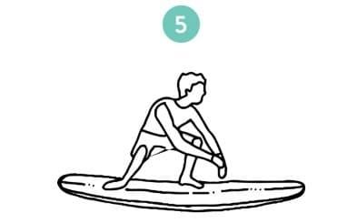dessin de la meilleure position du surfeur